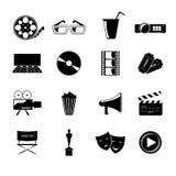 Cinema icons set Royalty Free Stock Image