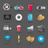 Cinema icons set Royalty Free Stock Photo