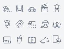 Cinema icons Stock Image