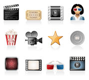 Cinema icons Royalty Free Stock Photography