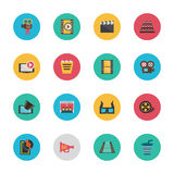 Cinema icons5 Royalty Free Stock Photos