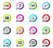 Cinema icons set. Cinema web icons for user interface design Royalty Free Stock Image