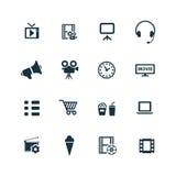 Cinema icons set Stock Photos