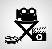 Cinema Icons vector design. Video concept with  movie icons design, vector illustration 10 eps graphic., Vector design Stock Photo