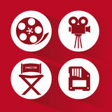Cinema Icons vector design. Video concept with  movie icons design, vector illustration 10 eps graphic., Vector design Stock Images