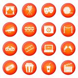 Cinema icons vector set Stock Photography