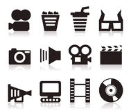 Cinema icons3 Stock Photo