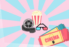 Cinema illustration Royalty Free Stock Images