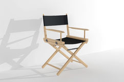 Cinema Industry Concept. Directors Chair. On a white background Royalty Free Stock Image