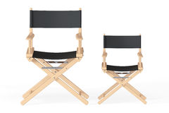 Cinema Industry Concept. Directors Chairs. On a white background Royalty Free Stock Photo