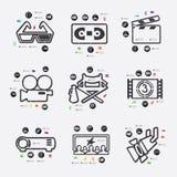 Cinema infographic Stock Images