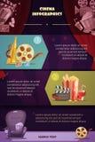 Cinema Infographic Set Stock Image