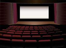 Cinema interior vector Royalty Free Stock Photos