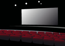 Cinema interior vector Royalty Free Stock Photography