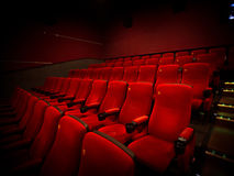 Cinema. Interior view background photo Royalty Free Stock Photo
