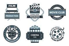 Cinema Label Set Stock Images