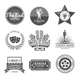 Cinema labels collection black Royalty Free Stock Images