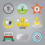 Cinema labels collection Royalty Free Stock Images