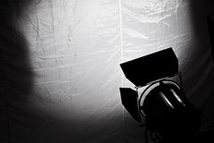 Cinema light. Film series: special cinema light and diffuser Royalty Free Stock Photo