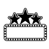 Cinema lights label icon Royalty Free Stock Photos