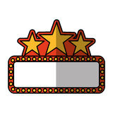 Cinema lights label icon Royalty Free Stock Photography
