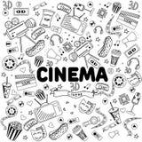 Cinema line art design vector illustration Stock Photo