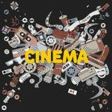 Cinema line art design vector illustration Stock Image