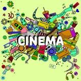 Cinema line art design vector illustration Stock Photos