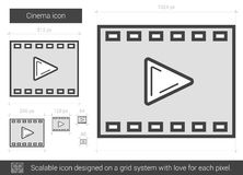 Cinema line icon. Cinema vector line icon isolated on white background. Cinema line icon for infographic, website or app. Scalable icon designed on a grid Stock Photo