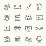 Cinema line icons Stock Photos