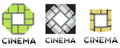 Cinema logo Royalty Free Stock Photography
