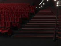 cinema moderno da rendição 3D ilustração royalty free