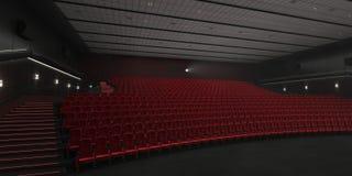 cinema moderno da rendição 3D ilustração do vetor