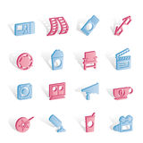 Cinema and Movie. Icon set Royalty Free Stock Images