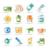 Cinema and Movie. Icon set Royalty Free Stock Photography