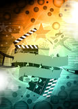 Cinema or movie background Stock Images