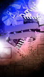 Cinema or movie background Stock Image