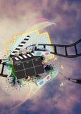 Cinema or movie background Royalty Free Stock Image