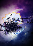 Cinema or movie background Royalty Free Stock Photo