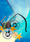 Cinema or movie background. Cinema, movie, cinematography advert poster or flyer background with empty space Stock Image