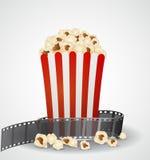 Cinema movie background. Illustration of Cinema movie background  isolated on gray background Royalty Free Stock Photos