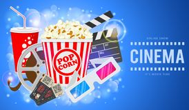 Cinema and Movie Banner Royalty Free Stock Photography