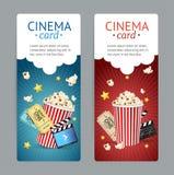 Cinema Movie Card Set. Vector Stock Image
