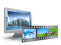 Cinema, movie concept. On white Royalty Free Stock Photography