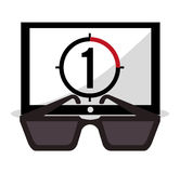 Cinema movie 3d glasses countdown. Vector illustration eps 10 Stock Photos