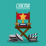 Cinema and Movie design Stock Image
