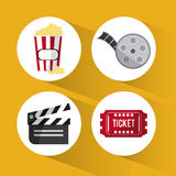 Cinema and Movie design Royalty Free Stock Images