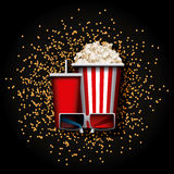 Cinema and movie design Royalty Free Stock Photography