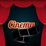 Cinema and movie design Stock Photography