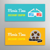 Cinema movie discount coupon Stock Photography